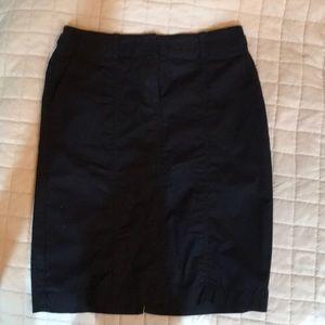 Pencil skirt navy Talbots